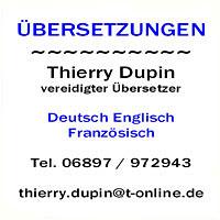Thierry Dupin Übersetzungen
